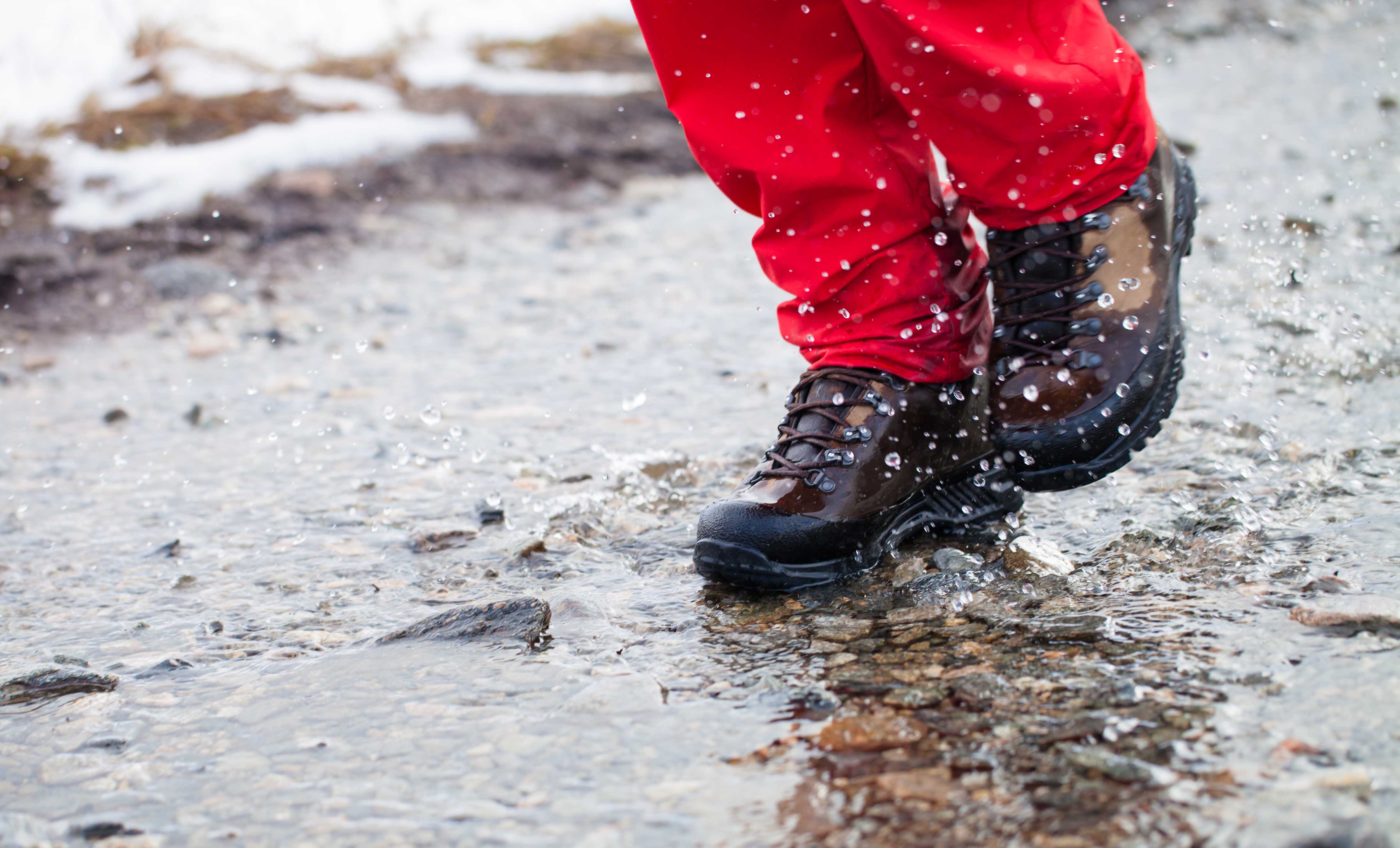 Wet Leather Boots