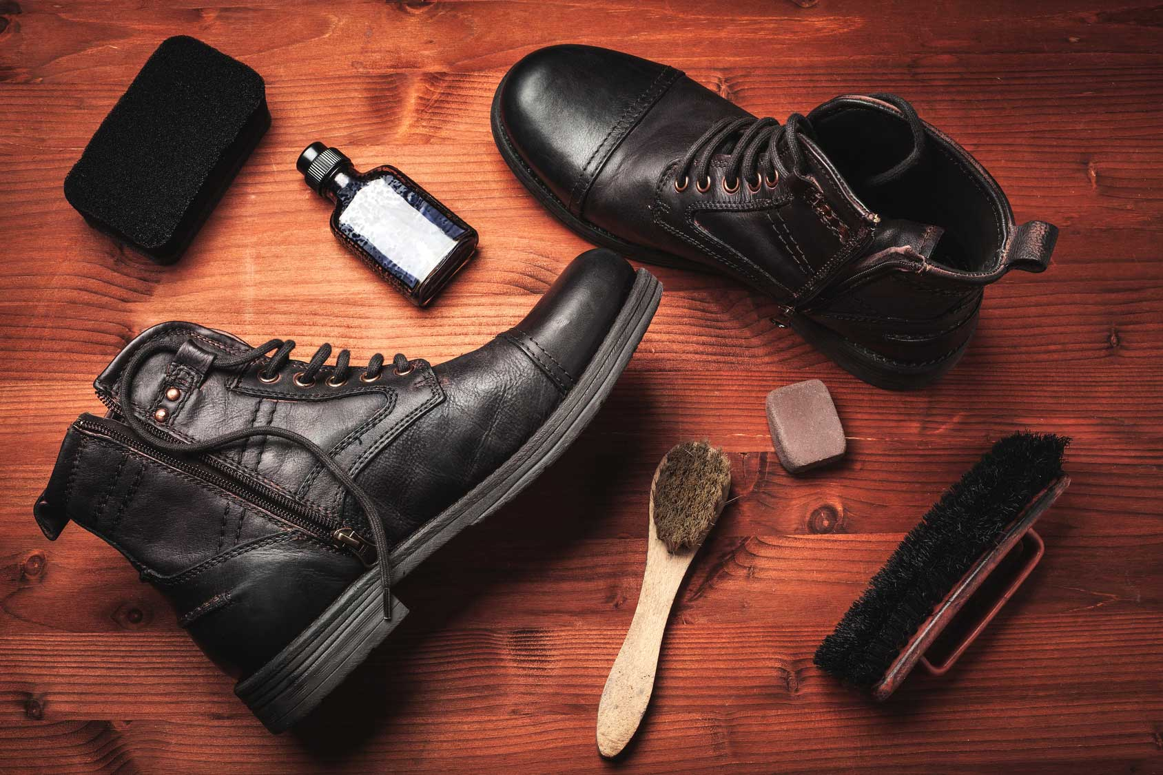 how to combat and remove scratches from leather boots