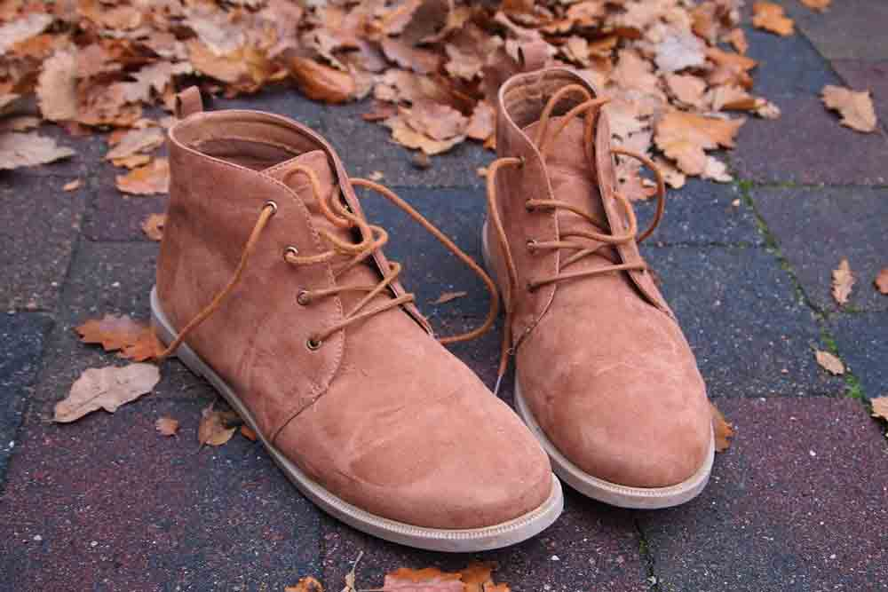 clean suede work boots