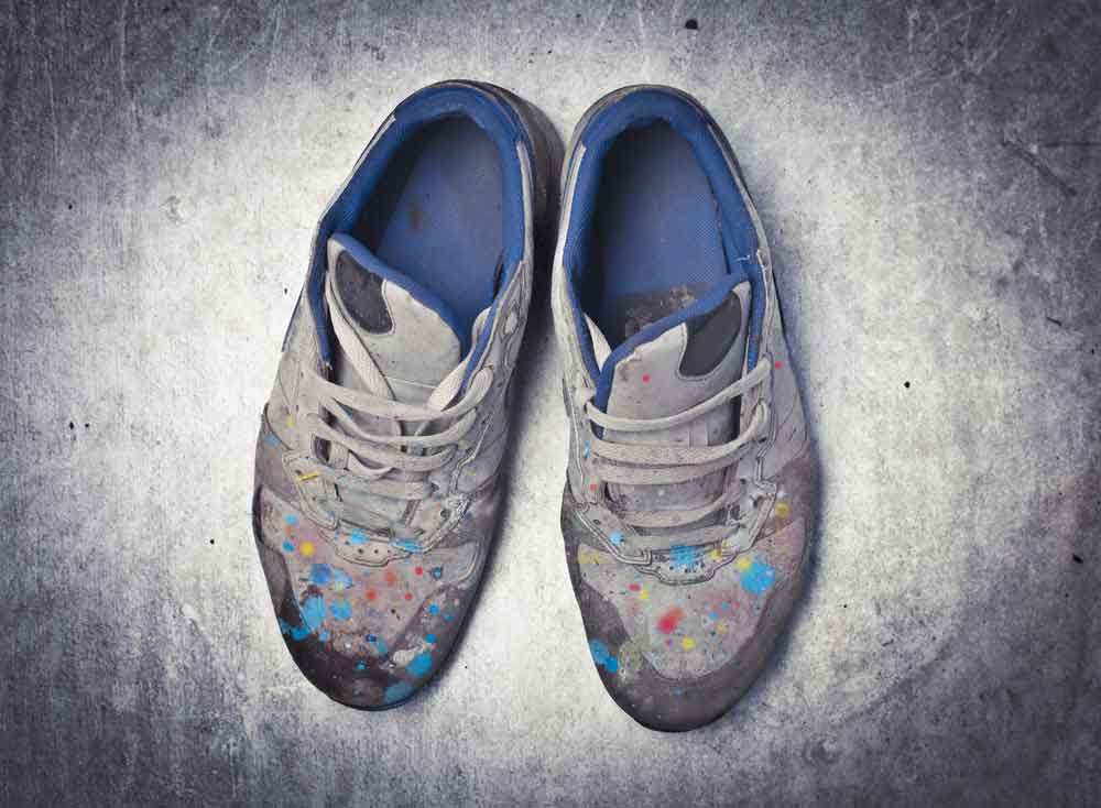 get paint off from shoes