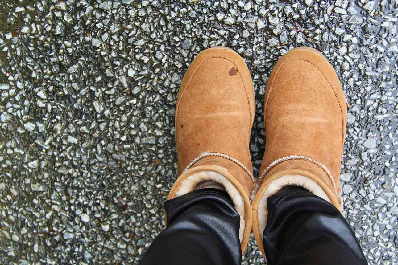 cleaning bearpaw boots diy
