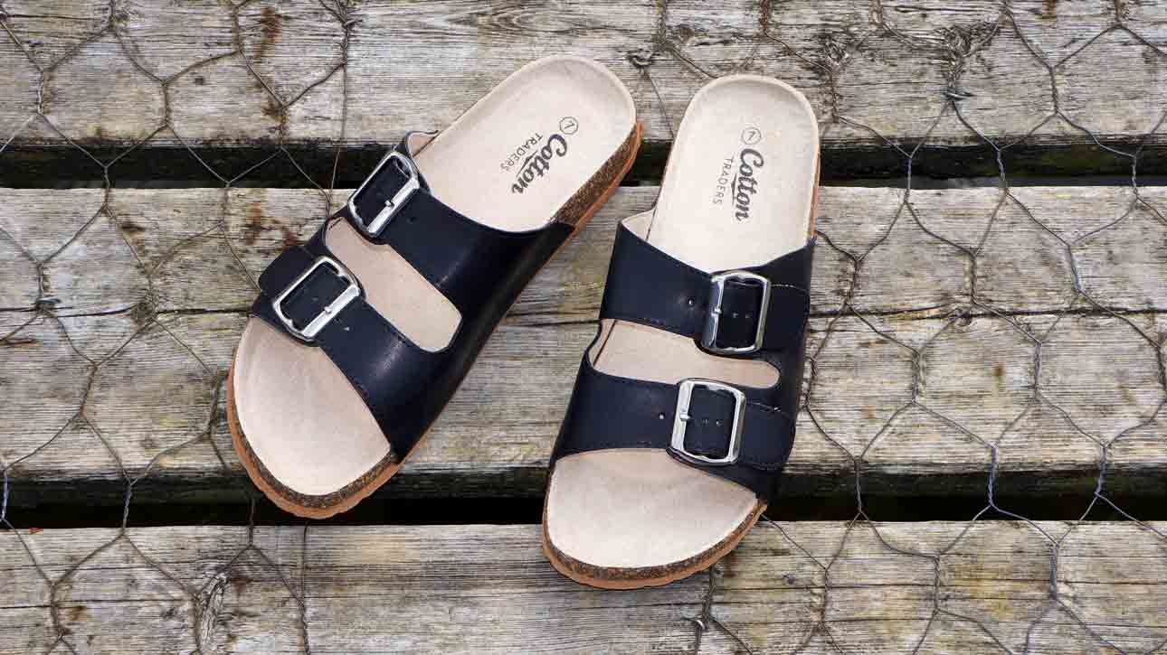 a pair of good fit sandals