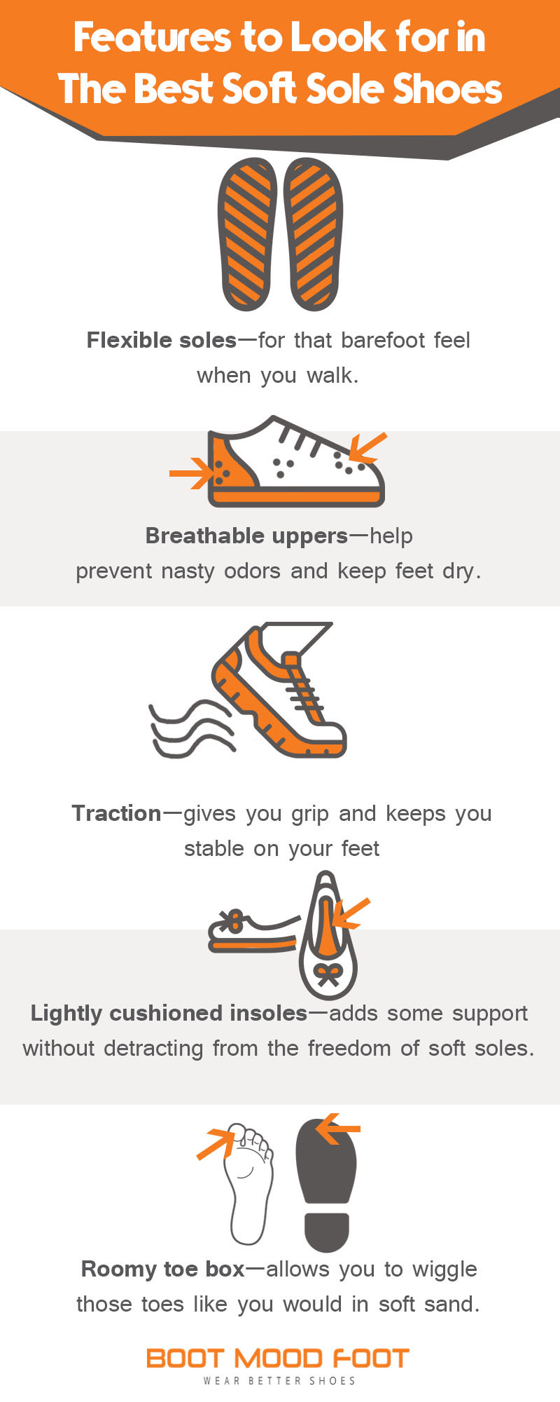 best soft sole shoes infographic