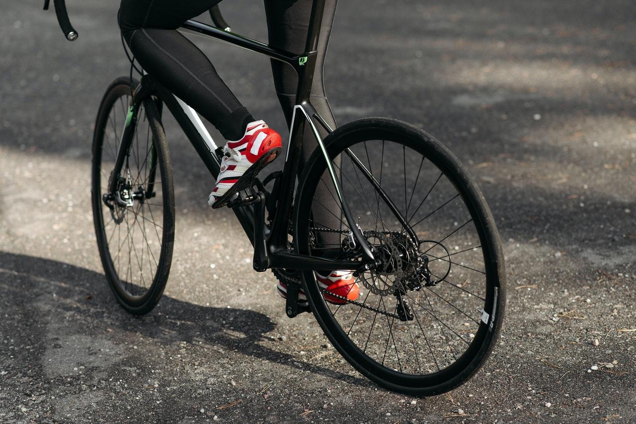 a guy riding bike