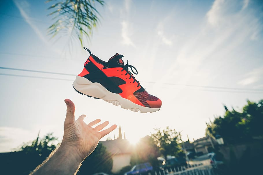 Huarache shoes in the sky