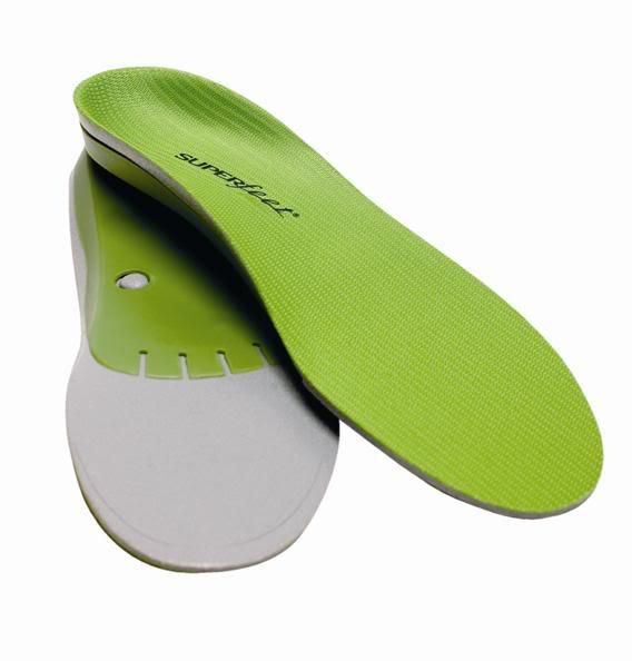 Superfeet Green foam insoles for feet